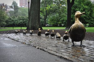 The Make Way for Ducklings icon, Boston Public Garden