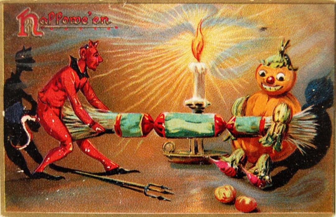 devil pulling popper
