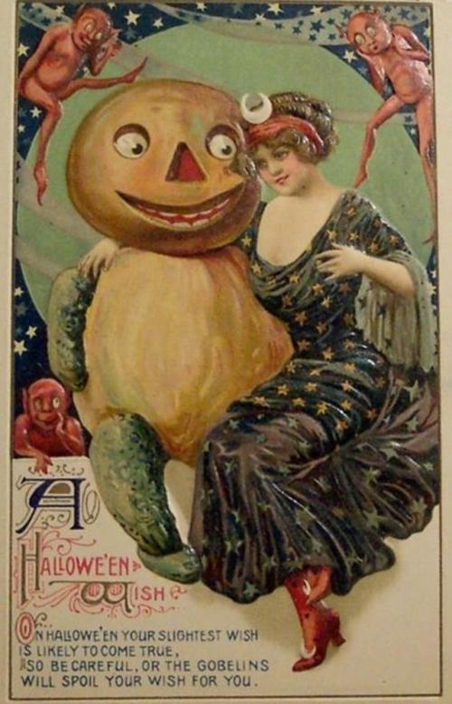Odd Vintage Halloween Postcard (2)